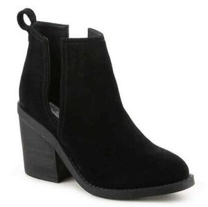 Steve madden cut out ankle suede booties